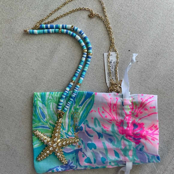 NWT Lilly Pulitzer Necklace and Pouch